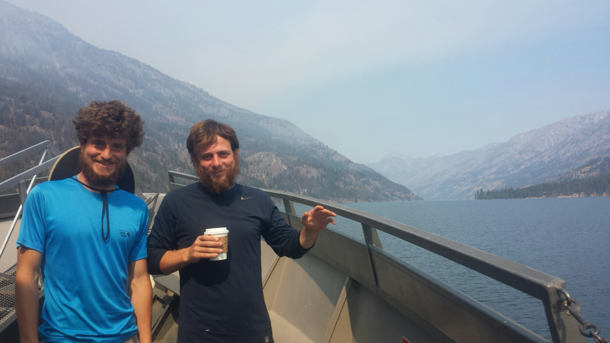 Khalil & Distance on the Lake Chelan Ferry