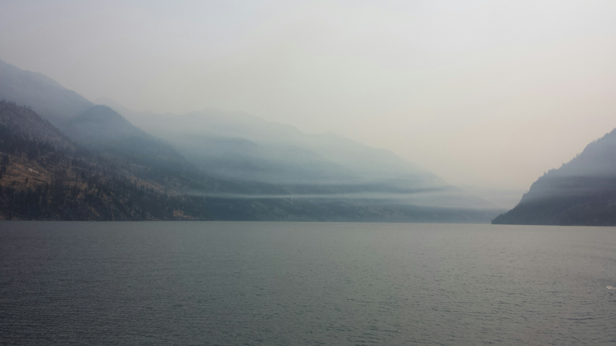 Smoke over Lake Chelan