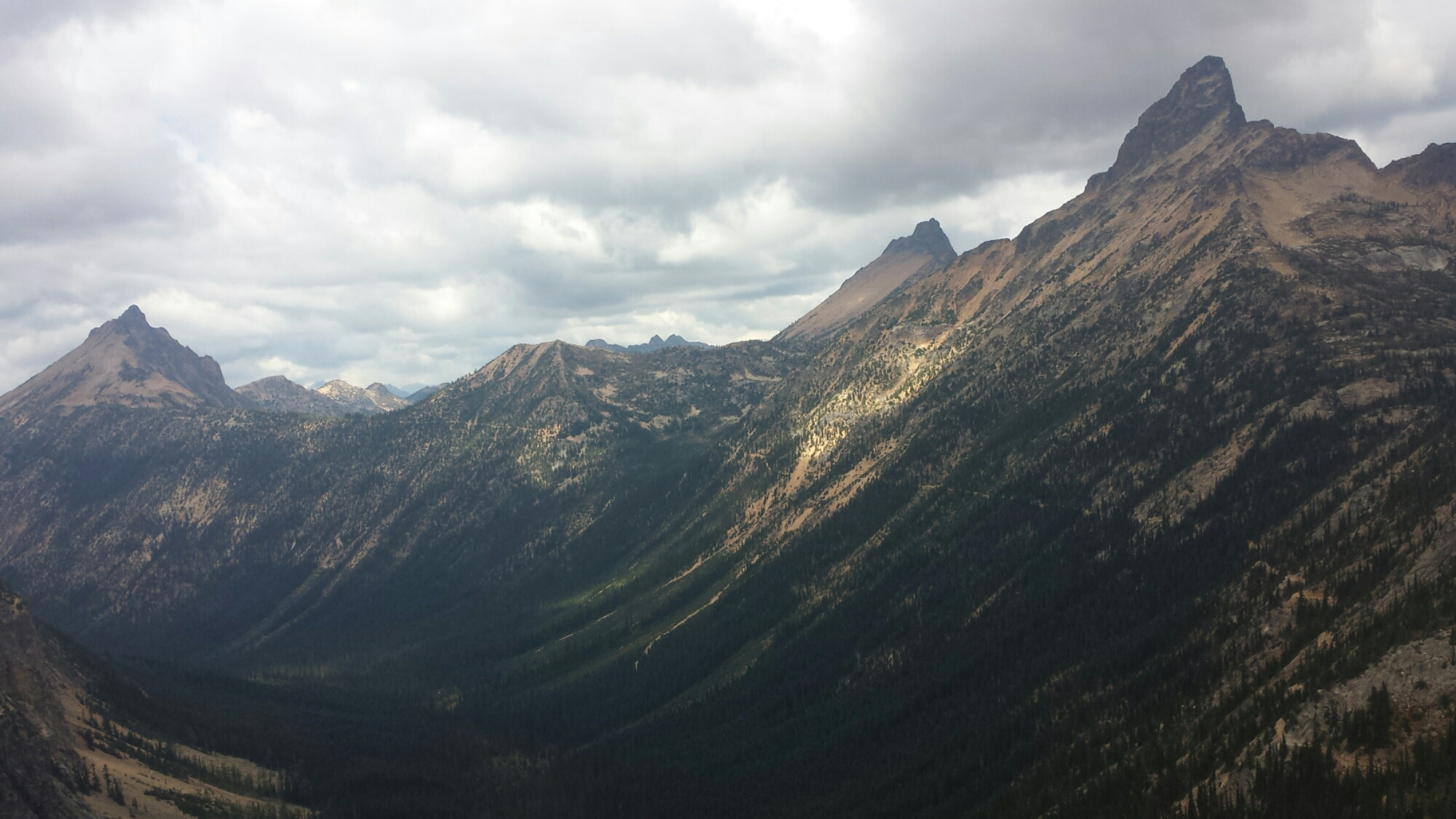 Mount Hardy (left) and Tower Mountain (right)