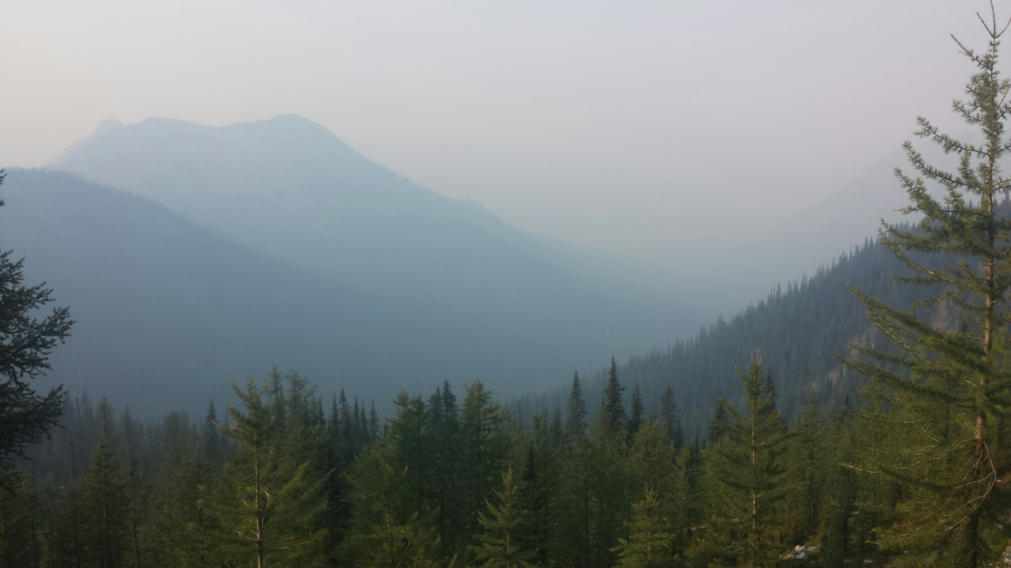 A smokey valley