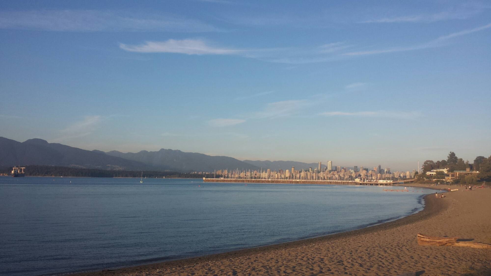 View of Vancouver's skyline from Jericho Beach