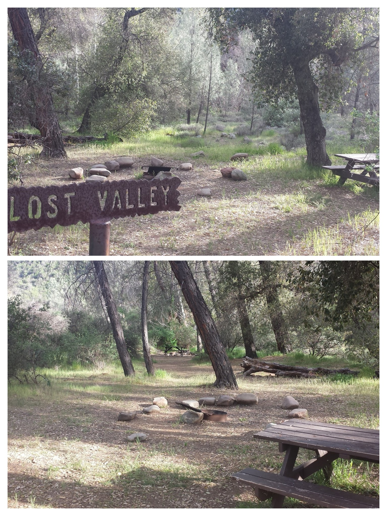 Lost Valley Camp along Manzana Trail.