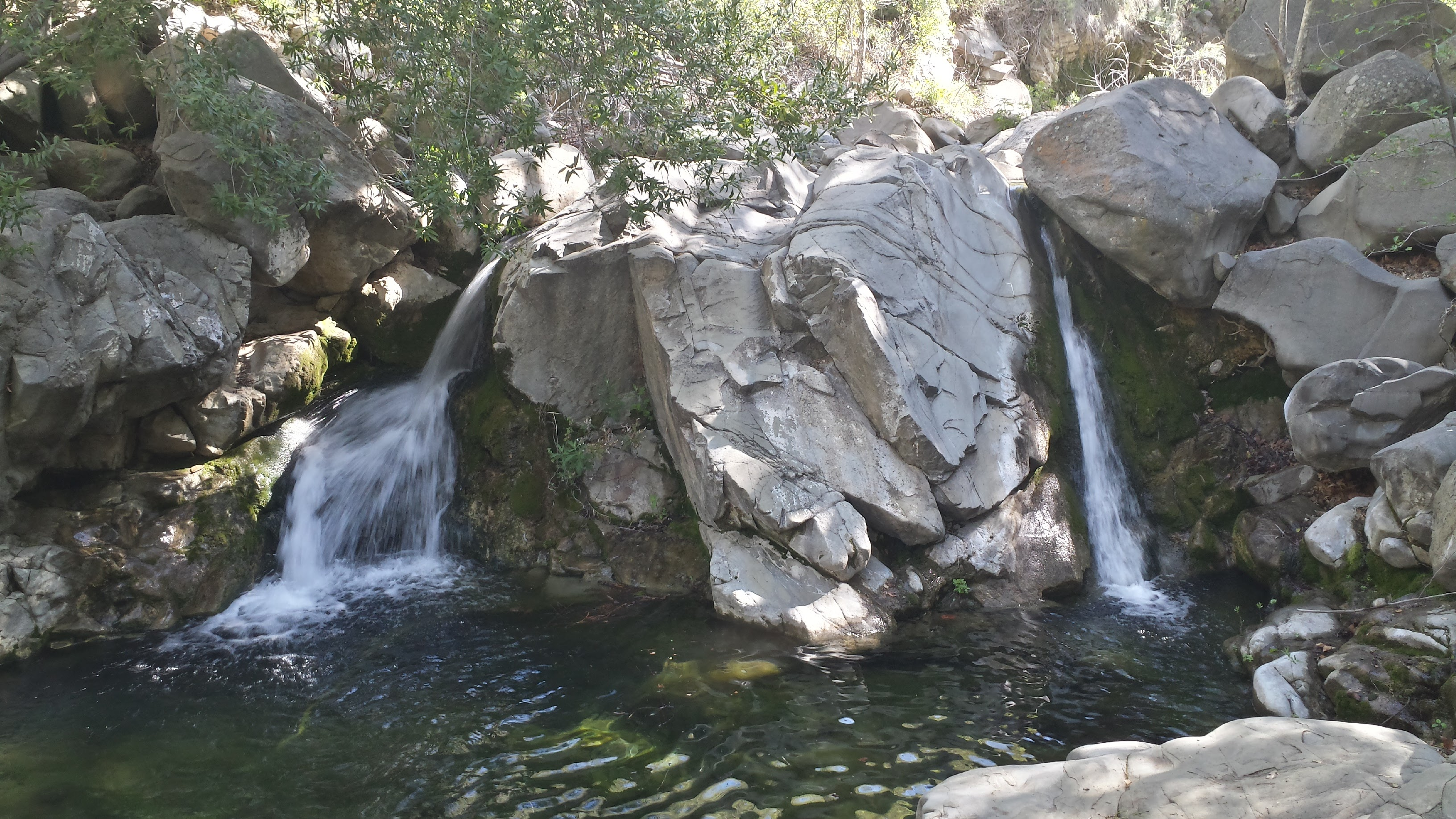 Waterfalls at Manzana Narrows Campsite